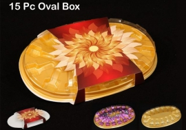 15Pcs Oval Box